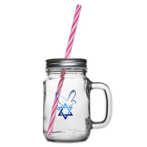 Shalom I - Henkelglas mit Schraubdeckel