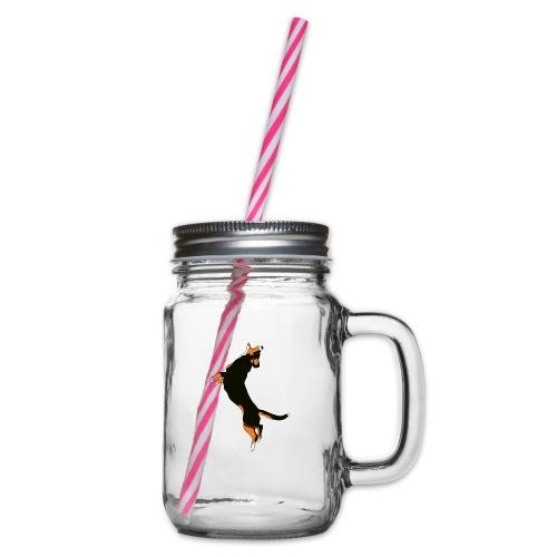 Entlebucher - Glas med handtag och skruvlock
