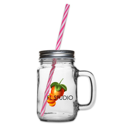 Sliced Sweaty Fruit - Glass jar with handle and screw cap
