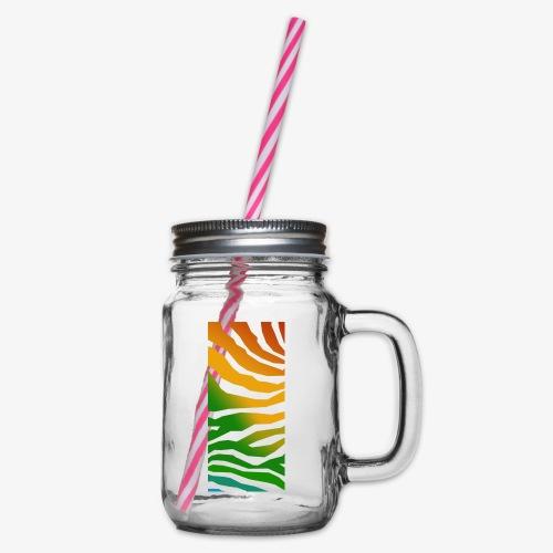 zebra - Glas med handtag och skruvlock