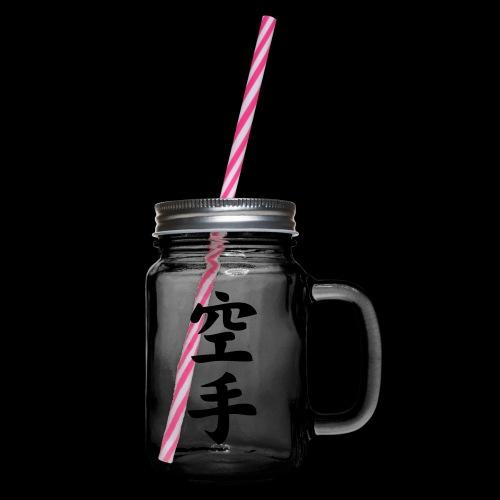 karate - Słoik do picia z pokrywką