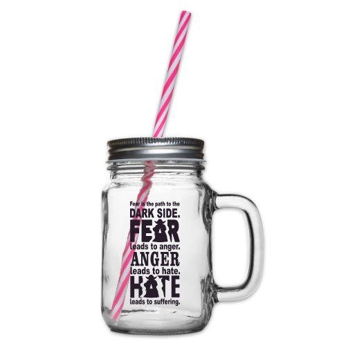 F06 - Glass jar with handle and screw cap