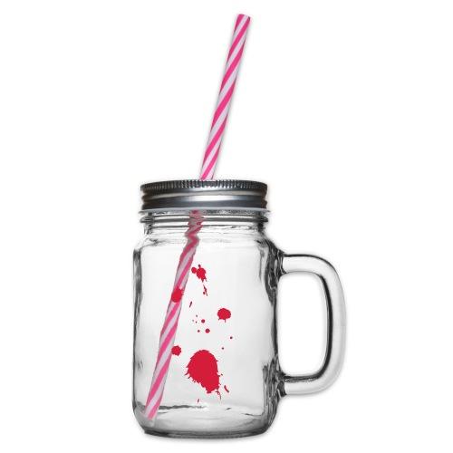blut - Henkelglas mit Schraubdeckel