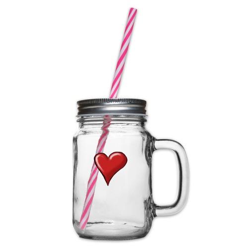 Love (coeur) - Bocal à boisson