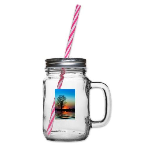 Evening - Glas med handtag och skruvlock