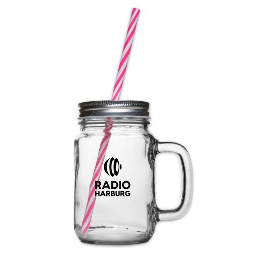 Radio Harburg - Henkelglas mit Schraubdeckel