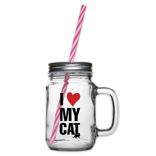 I_LOVE_MY_CAT-png - Jarra con asa y tapa roscada