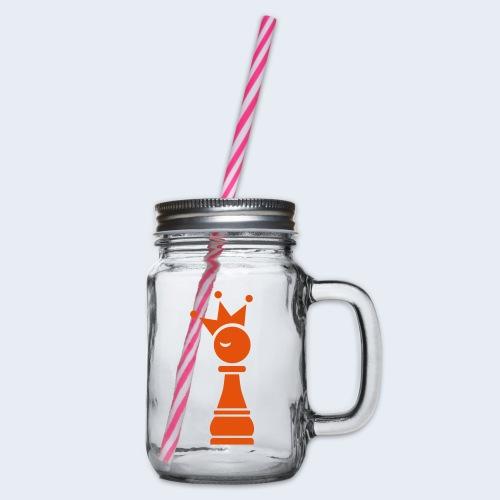 Winky Chess King - Drinkbeker met handvat en schroefdeksel