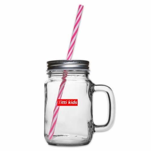tittibogo - Glas med handtag och skruvlock