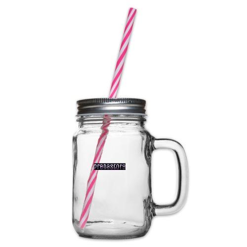 PredaStore Original Logo Design - Glass jar with handle and screw cap