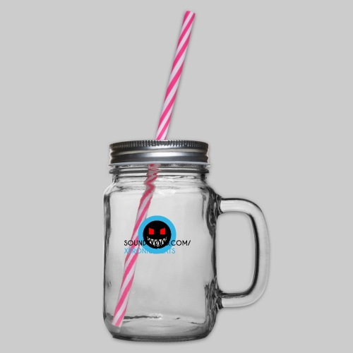 XERONIC LOGO - Glass jar with handle and screw cap