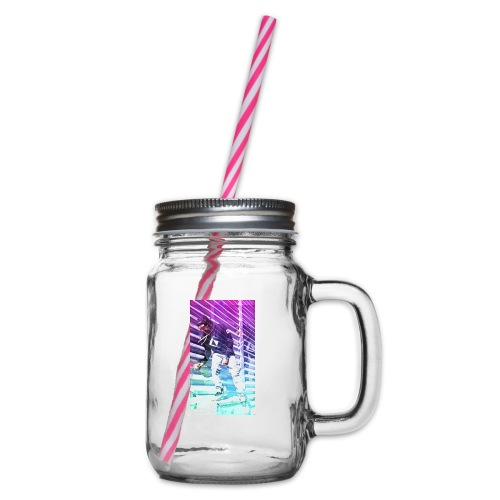 Neon HDR - Glass jar with handle and screw cap