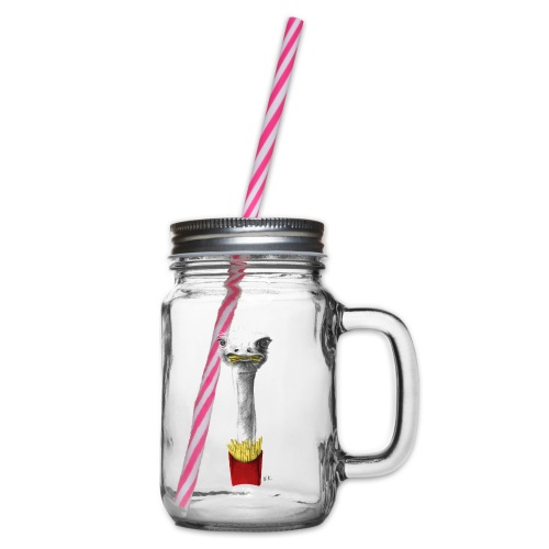 French Fries Lover - Glass jar with handle and screw cap
