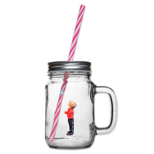 The Boy and the Blue - Glass jar with handle and screw cap