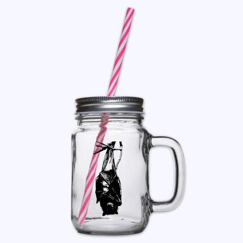 HangingBat schwarz - Henkelglas mit Schraubdeckel