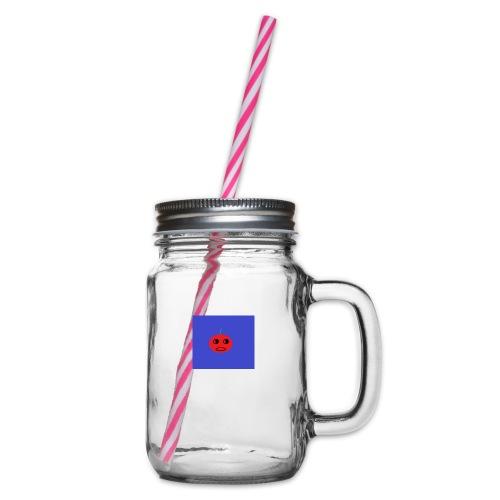 JuicyApple - Glass jar with handle and screw cap