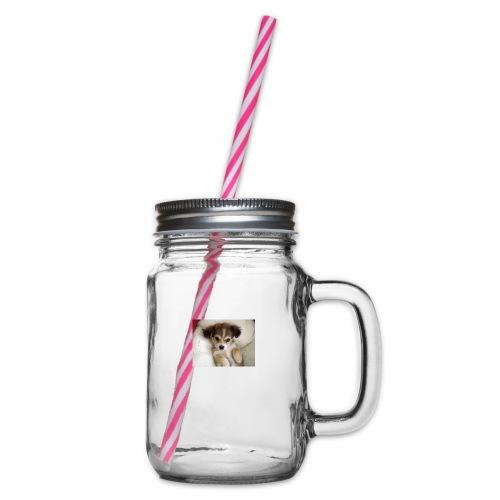 dog - Słoik do picia z pokrywką