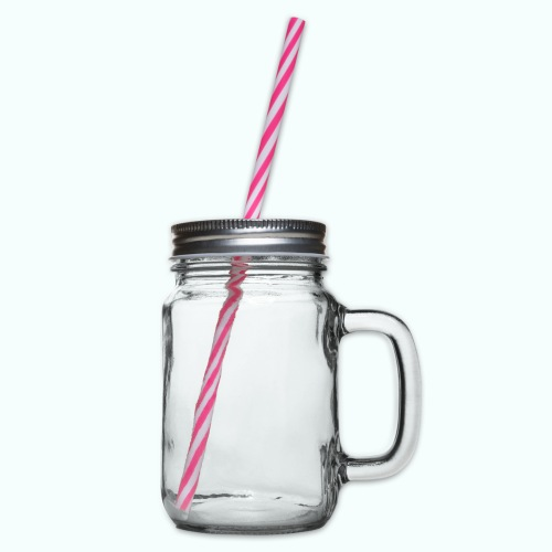 linksversifft - Glass jar with handle and screw cap
