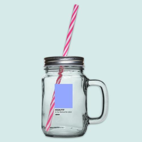 #93A7FF - Henkelglas mit Schraubdeckel