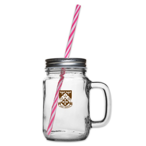 Borough Road College Tee - Glass jar with handle and screw cap