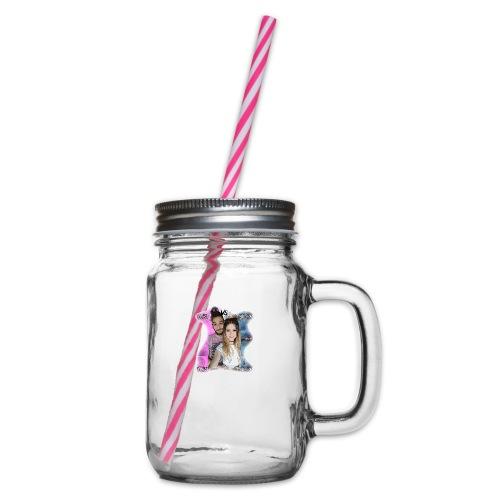 Tina VS Ivan - Glass jar with handle and screw cap