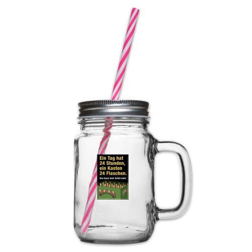 Bauern Sprüche - Henkelglas mit Schraubdeckel
