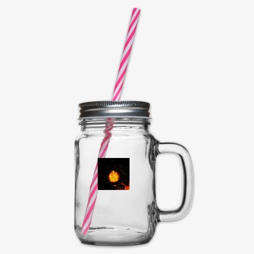 FIRE BEAST - Drinkbeker met handvat en schroefdeksel