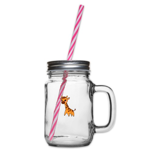 Mini Giraffe - Glass jar with handle and screw cap