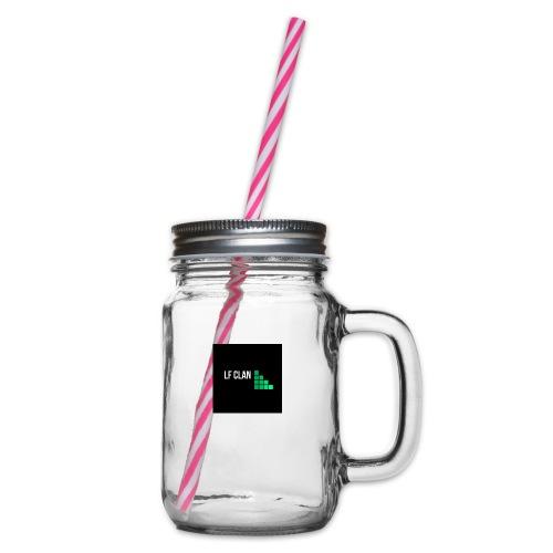 LF CLAN - Glas med handtag och skruvlock