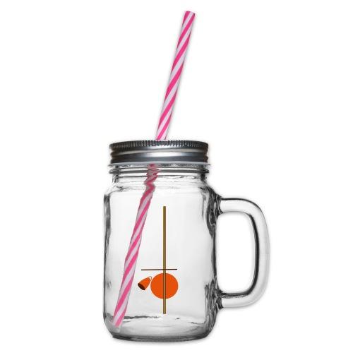 berimbau caxixi - Glass jar with handle and screw cap