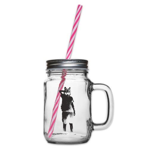 illustration loup noir - Bocal à boisson