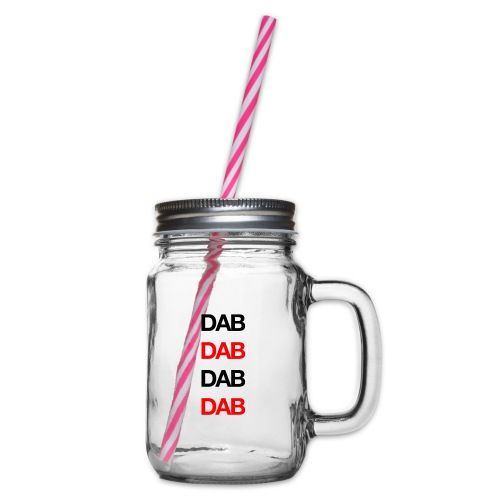 Dab - Glass jar with handle and screw cap