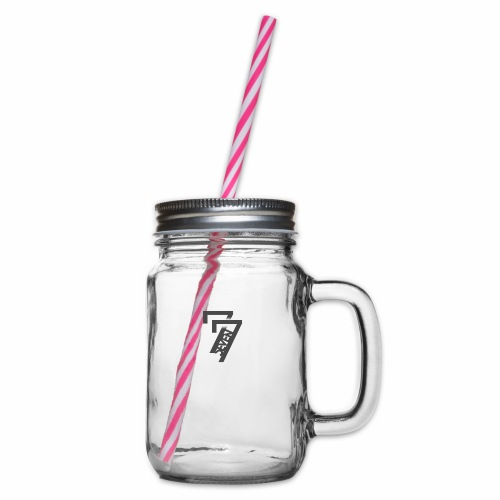 77 - Glass jar with handle and screw cap