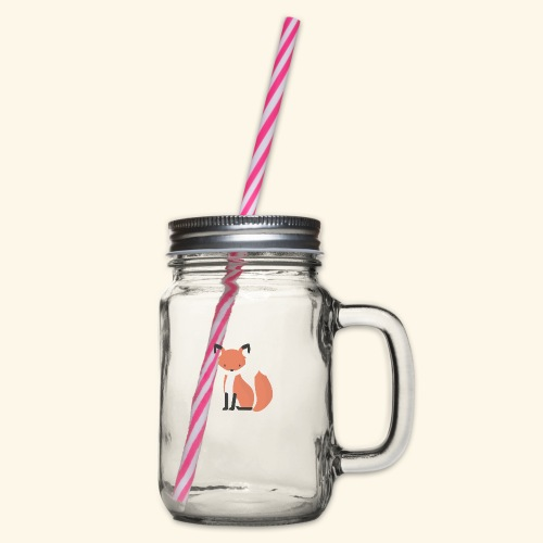 Fox Fox - Glass jar with handle and screw cap