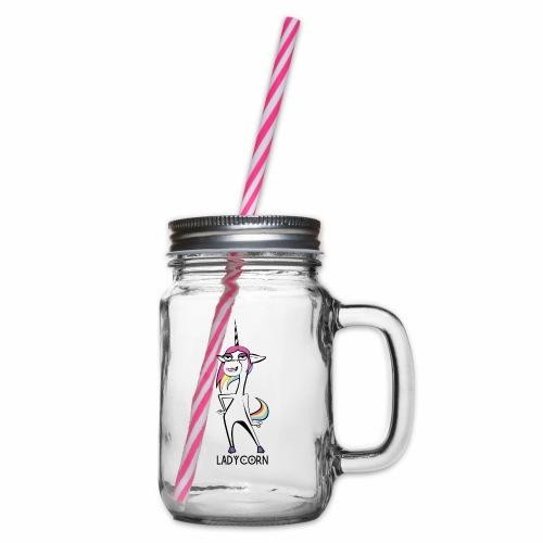 LadyCorn - Henkelglas mit Schraubdeckel