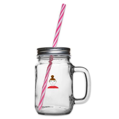 Bonny with a bun - Glas med handtag och skruvlock