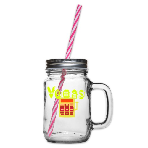 vegas seven slot - Glass jar with handle and screw cap