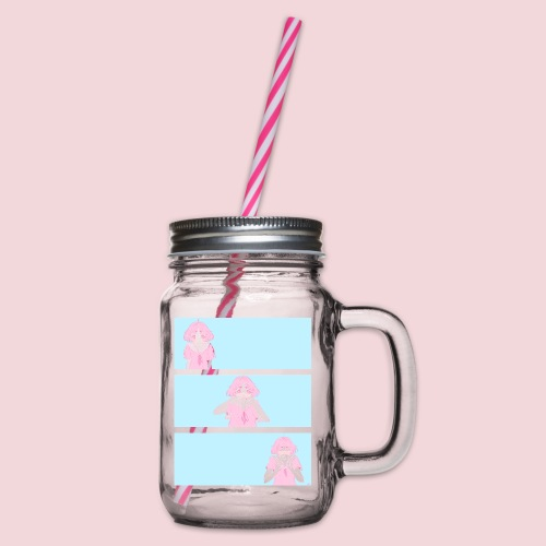 I like you! - Glass jar with handle and screw cap