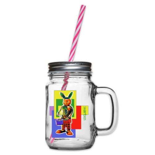 smARTkids - Slammin' Rabbit - Glass jar with handle and screw cap
