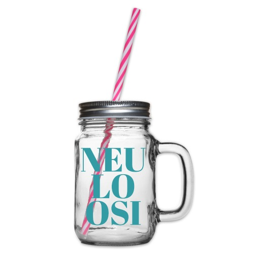 Neuloosi - Glass jar with handle and screw cap