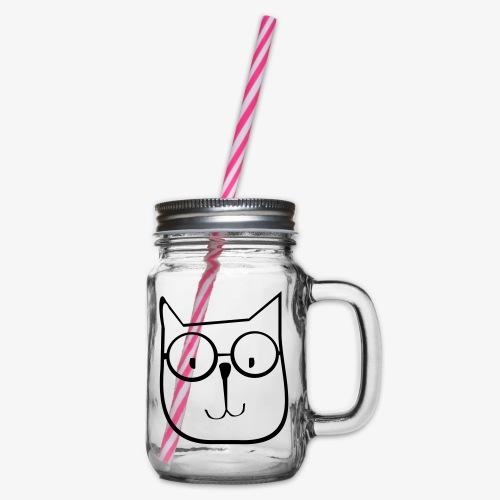 cat1 - Słoik do picia z pokrywką