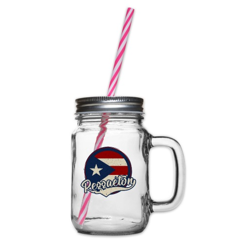 Reggaeton Music - Puerto Rico - Henkelglas mit Schraubdeckel