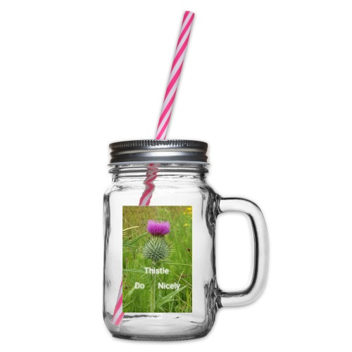 IMG 20180301 221949 Thistle Do Nicely - Glass jar with handle and screw cap