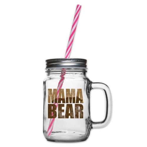 Mama Bär Design Bären Mutter Geschenk Idee - Henkelglas mit Schraubdeckel