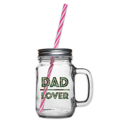 DAD LOVER - Glas med handtag och skruvlock