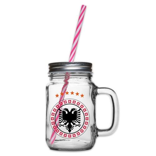 Albanien Kosovo Schweiz - Henkelglas mit Schraubdeckel