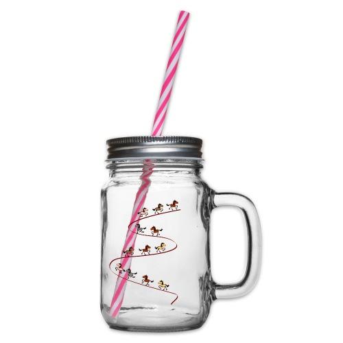Tölt bergauf - Henkelglas mit Schraubdeckel