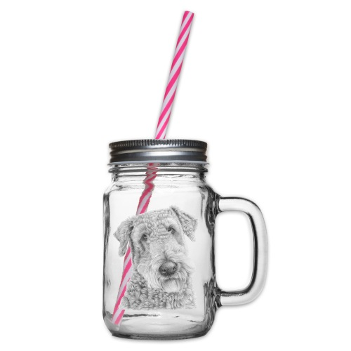 airedale terrier - Drikkekrus med skruelåg