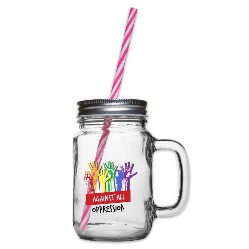 Against All Oppression - Drinkbeker met handvat en schroefdeksel