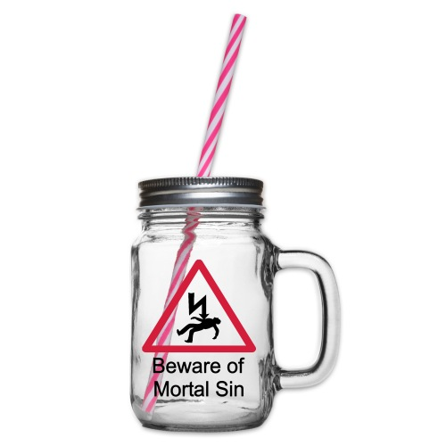 mortalrbr - Glass jar with handle and screw cap